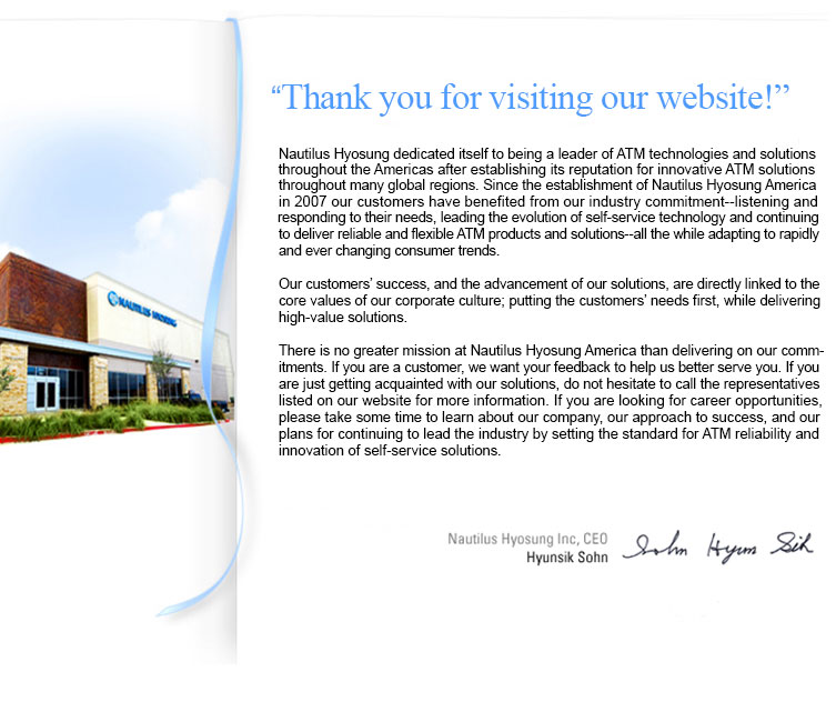 Greetingsceo nautilus hyosung america inc thank you for visiting our website m4hsunfo